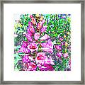 Foxglove Floral Framed Print