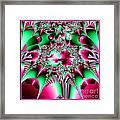 Fractal 12 Candycane Jester Framed Print