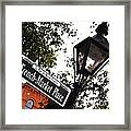 French Quarter French Market Street Sign New Orleans Diffuse Glow Digital Art Framed Print