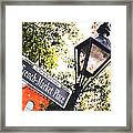 French Quarter French Market Street Sign New Orleans Film Grain Digital Art Framed Print