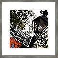 French Quarter French Market Street Sign New Orleans  Framed Print