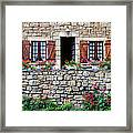 French Stone House Framed Print
