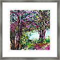 Friendship Trees Framed Print