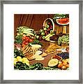 Fruit And Grain Food Group Framed Print