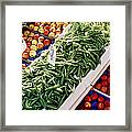Fruit And Vegetable Stand Framed Print