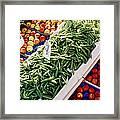 Fruit And Vegetable Stand Framed Print
