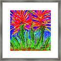Funky Flower Towers Framed Print