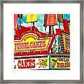 Funnel Cakes Carnival Food Vendor Framed Print