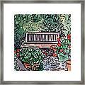 Garden Bench Sketchbook Project Down My Street Framed Print by Irina Sztukowski