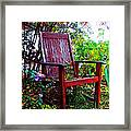Garden Seating Framed Print