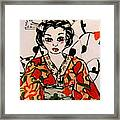 Geisha In Training Framed Print by Patricia Lazar