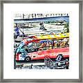 Genoa Sightseeing City Bus Framed Print