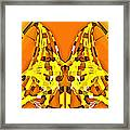 Giraffe-dragons Framed Print