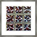 Glass Bricks Framed Print