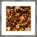 Glowing Golden Christmas Tree Framed Print