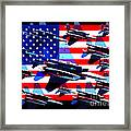 God Bless America Land Of The Free 2 Framed Print by Wingsdomain Art and Photography