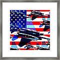 God Bless America Land Of The Free Framed Print