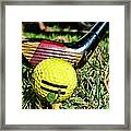Golf - Tee Time With A 3 Iron Framed Print