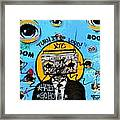 Graffiti Boombox  Man Framed Print