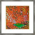 Grafitti Dining Framed Print by Joan  Minchak
