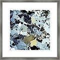 Granite Rock, Light Micrograph Framed Print