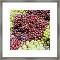 Grapes At A Market Stall Framed Print