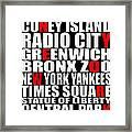 Graphic New York 3 Framed Print