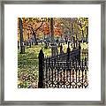 Gravestones Framed Print