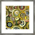 Green Abstract Feeling Framed Print