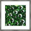 Green Marbles Framed Print