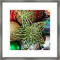 Green Star Christmas Ornament Framed Print