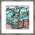 Greetings From Oc Framed Print by Skip Willits
