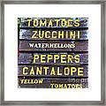 Guaranteed Farm Fresh Foods  Framed Print