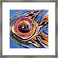 Happified Swirl Fish Framed Print