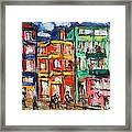 Happy Street Framed Print