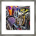 Harley Drag Bike Framed Print