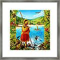 He Hula Ali'i Framed Print by Anne Wertheim
