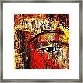 He Is Watching Framed Print