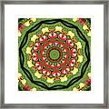 Heart Kaleidoscope Framed Print