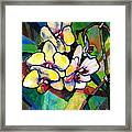 Heart Of The Orchid Framed Print
