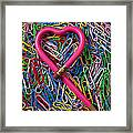 Heart Shaped Pink Pencil Framed Print
