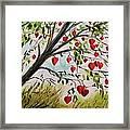 Hearts Grow On Trees Framed Print