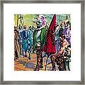 Hernando Cortes Arriving In Mexico In 1519 Framed Print