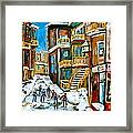 Hockey Art In Montreal Framed Print