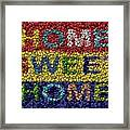 Home Sweet Home Bottle Cap Mosaic  Framed Print by Paul Van Scott