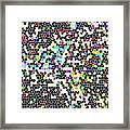 Honeycomb Abstract  Framed Print