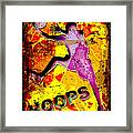 Hoops Basketball Player Abstract Framed Print by David G Paul