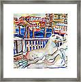 Horses On The Grand Canal Of Venice Framed Print
