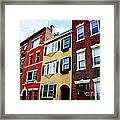 Houses In Boston Framed Print