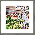 Hydrangea Sketchbook Project Down My Street Framed Print by Irina Sztukowski